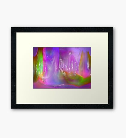 Coloured ice Framed Print