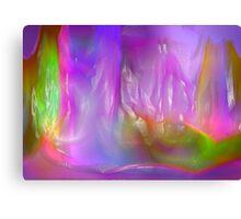 Coloured ice Canvas Print