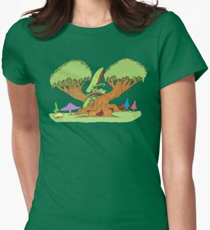 insect tree Womens Fitted T-Shirt