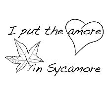 The Amore in Sycamore Photographic Print