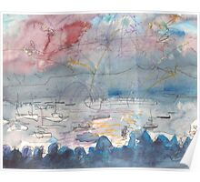 THE FIREWORKS - ENGLISH BAY VANCOUVER(SKETCH)(C1999) Poster