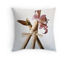 Ikebana-101 Throw Pillow