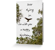 Flying Cockatoo Greeting Card