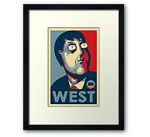 West 'Hope' Poster Framed Print