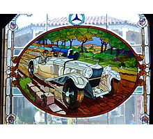 Vintage Mercedes stain glass window ~ Monterey Photographic Print