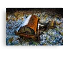 Abandoned Roller Canvas Print