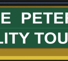 Peterman Reality Bus Tour Seinfeld Kramer Sticker