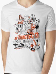 City Tee SF Mens V-Neck T-Shirt