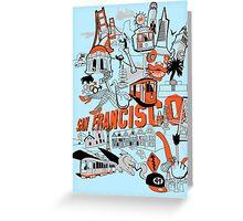 City Tee SF Greeting Card