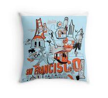 City Tee SF Throw Pillow