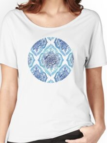 Indian Ink - in blues Women's Relaxed Fit T-Shirt