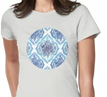 Indian Ink - in blues Womens Fitted T-Shirt