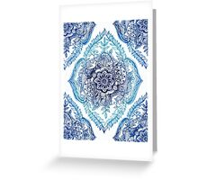 Indian Ink - in blues Greeting Card
