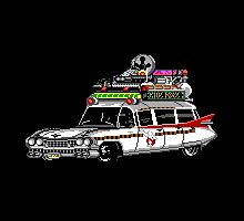 Pixel ECTO-1 Ghostbusters Cadillac by boxsmasher