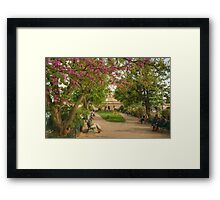 Paris Park in Spring Framed Print