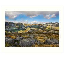 Hardknott - Lakeland Fells - Cumbria Art Print
