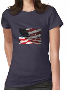 American Values Womens Fitted T-Shirt