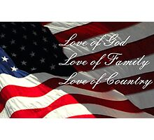 American Values Photographic Print