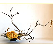 Ikebana-103 Greeting Card by Baiko