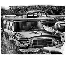 Old Ride 2  ( BoneYard Series in B&W ) Poster