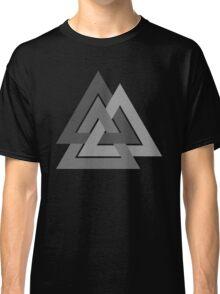 Valknut - Silver borromean VIKING SYMBOL Classic T-Shirt