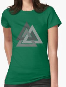 Valknut - Silver borromean VIKING SYMBOL Womens Fitted T-Shirt