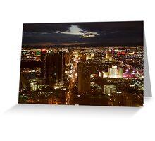 Vegas By Night 2 Greeting Card