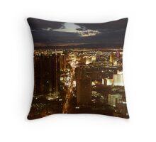 Vegas By Night 2 Throw Pillow
