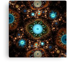 Embroidery Cogs Canvas Print