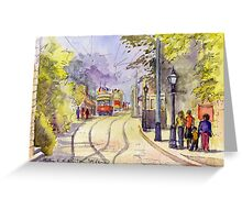 Crich Tramway Museum, Derbyshire Greeting Card