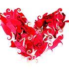 Heart Whirls by Karyn  Kelbaugh