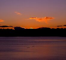 Angel Cloud Watching Over Fern Ridge Lake   by Chuck Gardner