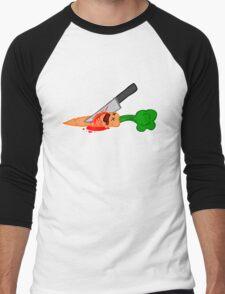 veges are murder Men's Baseball ¾ T-Shirt