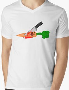 veges are murder Mens V-Neck T-Shirt