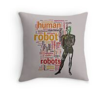 Human Robot Throw Pillow