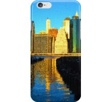 Bright and Sunny New York City Skyline - Impressions Of Manhattan iPhone Case/Skin