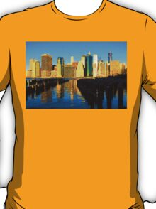Bright and Sunny New York City Skyline - Impressions Of Manhattan T-Shirt