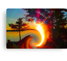 Sunset With a Twist Canvas Print