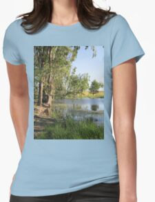 Trees and water Womens Fitted T-Shirt