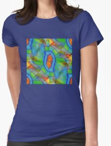Fractal Feather Womens Fitted T-Shirt