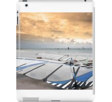 wind surfers braving the winds iPad Case/Skin