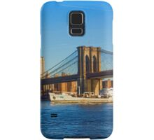 Sailing Under the Brooklyn Bridge - Impressions Of Manhattan Samsung Galaxy Case/Skin