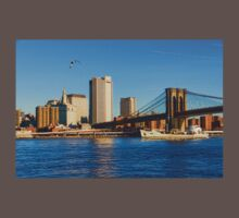 Sailing Under the Brooklyn Bridge - Impressions Of Manhattan Kids Clothes