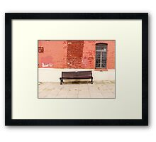 Bench - Poole Framed Print