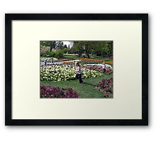 Run Around The Posies! Framed Print