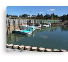 Boats at Half-Tide Canvas Print