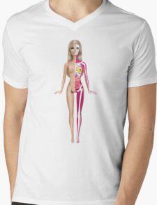 Barbie Anatomy Mens V-Neck T-Shirt