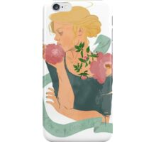 Ophelia with peonies  iPhone Case/Skin
