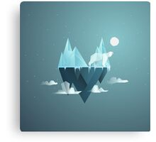 Low Poly Polar Bear Canvas Print
