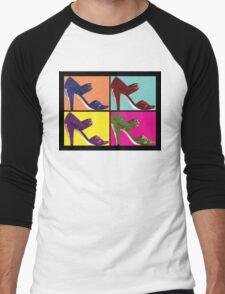 Steps Into Pop Art  Men's Baseball ¾ T-Shirt